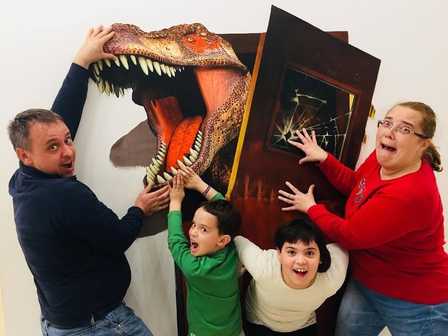 galériában a család